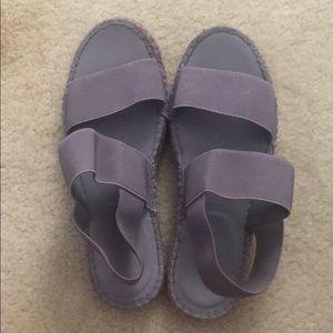 Shoes - Women's purple espadrille sandals